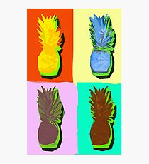 LIMITED EDITION PINEAPPLE POP ART -THE FAB  4- JANE HOLLOWAY  Photographic Print