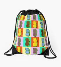 LIMITED EDITION PINEAPPLE POP ART -THE FAB  4- JANE HOLLOWAY  Drawstring Bag