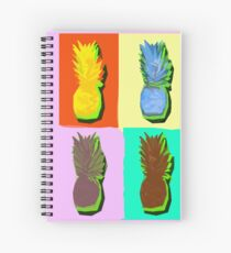 LIMITED EDITION PINEAPPLE POP ART -THE FAB  4- JANE HOLLOWAY  Spiral Notebook
