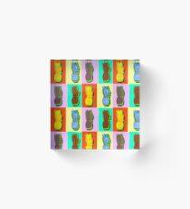 LIMITED EDITION PINEAPPLE POP ART -THE FAB  4- JANE HOLLOWAY  Acrylic Block