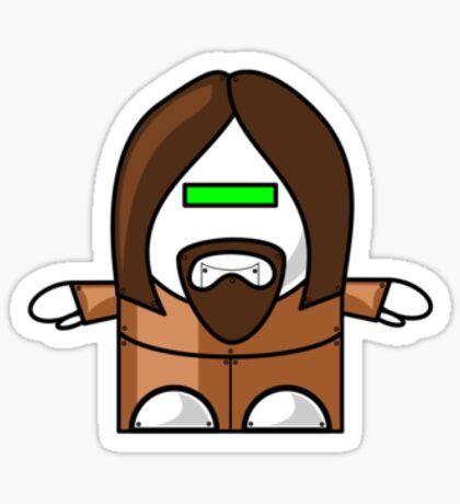 Robo-Jesus Sticker