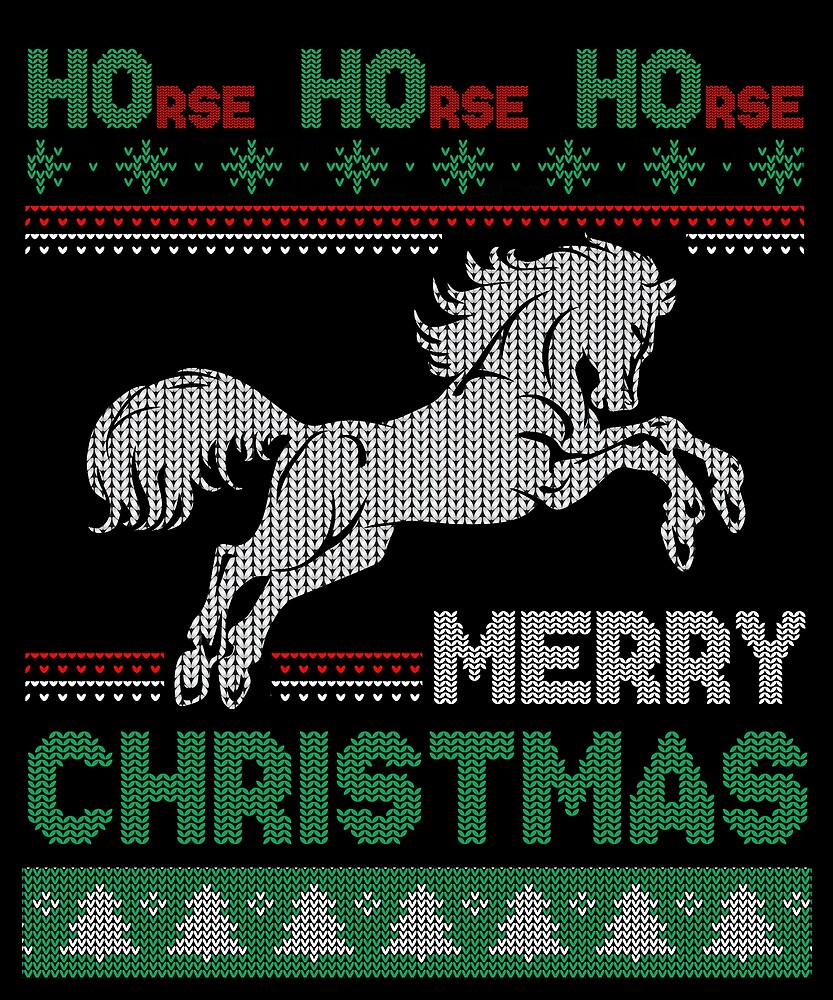 Humorous horse ugly christmas t shirt funny xmas shirt