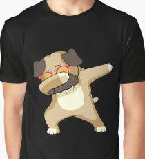 Dabbing Pug Shirt - Cute Funny Dog Dab T-Shirt Graphic T-Shirt