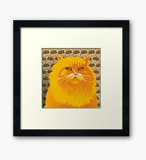 THE PAINTED KING - FLAMING HOT - A COLLABORATION Framed Print