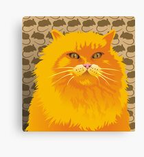 THE PAINTED KING - FLAMING HOT - A COLLABORATION Canvas Print