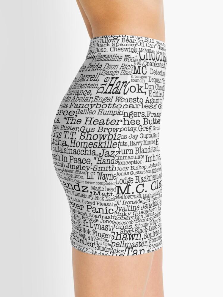 Vista alternativa de Minifalda Poster del programa de televisión Psych, apodos, Burton Guster