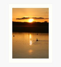 Topsham sunset Art Print