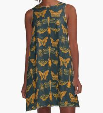 Yellow Insect Series A-Line Dress