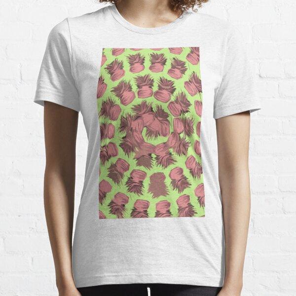 SPIRALIZED PINEAPPLE POP ART  LIGHT GREEN   PASSIONATE BLUSH PINK  Essential T-Shirt