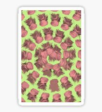 SPIRALIZED PINEAPPLE POP ART| LIGHT GREEN | PASSIONATE BLUSH PINK  Sticker