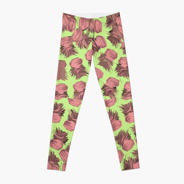 SPIRALIZED PINEAPPLE POP ART| LIGHT GREEN | PASSIONATE BLUSH PINK  Leggings