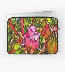 The Radiant Love of the Pink Rosebud Laptop Sleeve