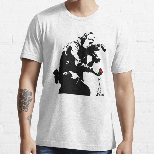 Banksy Flower Photographer Essential T-Shirt