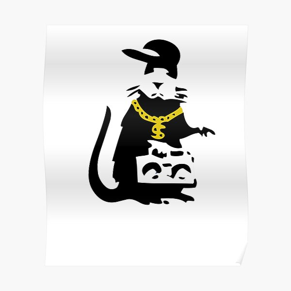 Banksy Gangsta Rat  Poster
