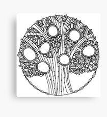 Magic tree to color Canvas Print