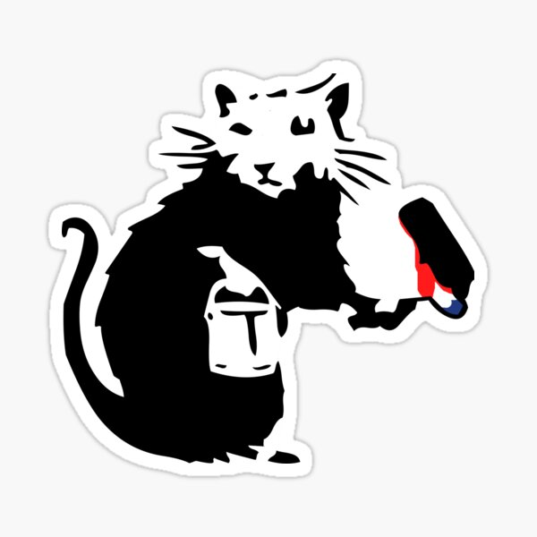 Banksy Graffiti Rat Artist Sticker