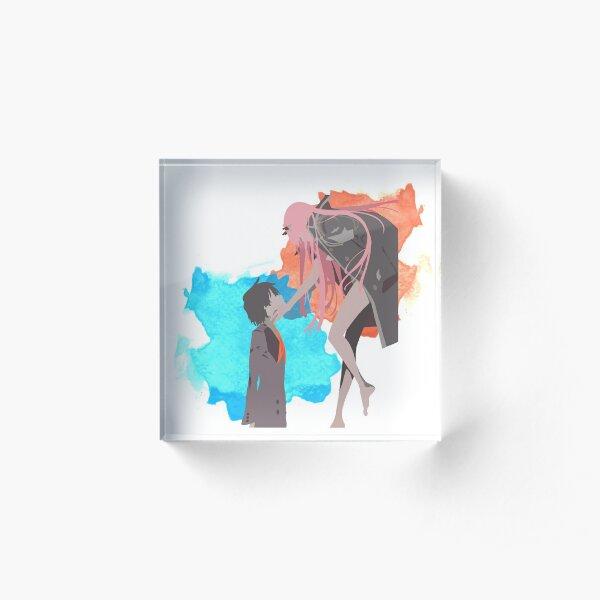 DARLING in the FRANXX Minimalist (Hiro and Zero Two) Acrylic Block