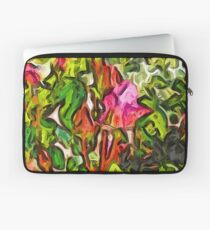 The Pink Rosebud in the Sea of Green Leaves Laptop Sleeve