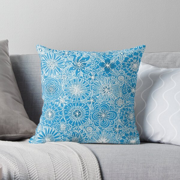 Pattern 93 Greek embroidery lace  Throw Pillow