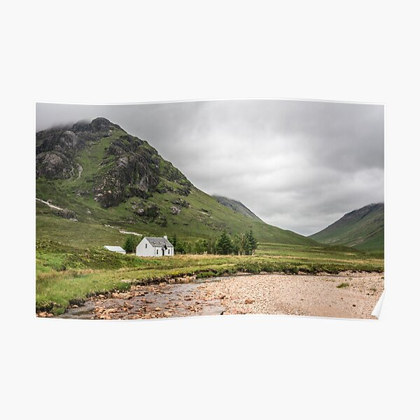 At the foot of Etive More   Glencoe Valley Poster