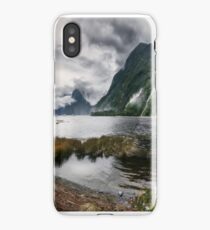 Wild Weather at Milford Sound panorama iPhone Case