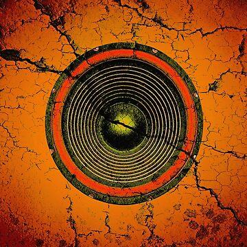 Cracked orange music speaker by steveball