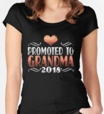 Promoted to Grandma 2018 Women's Fitted Scoop T-Shirt