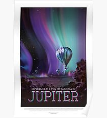 Jupiter - Exoplanet-Reisebüro, JPL-Reise-Plakat, Visionen der Zukunft, NASA, Planeten Poster