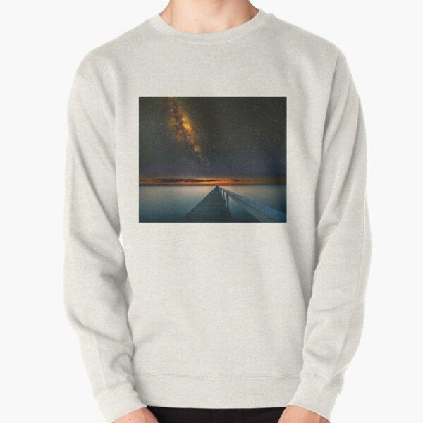 Milky Way over Long Jetty Pullover Sweatshirt