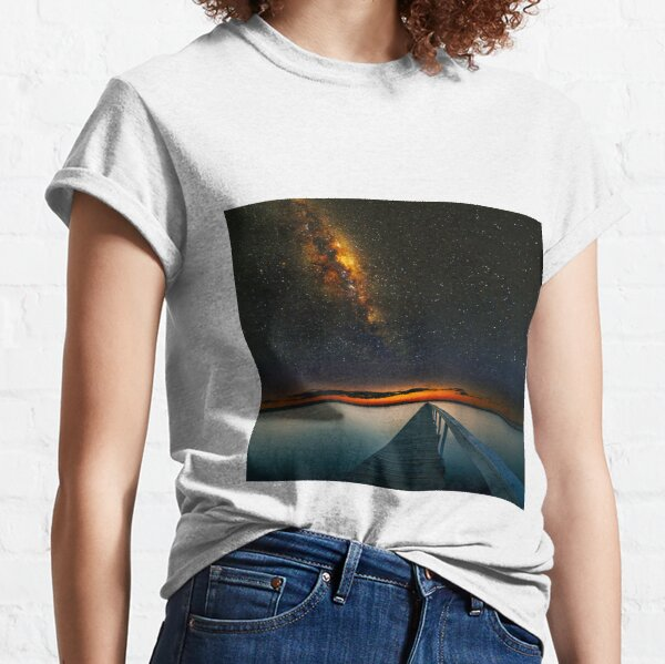 Milky Way over Long Jetty Classic T-Shirt
