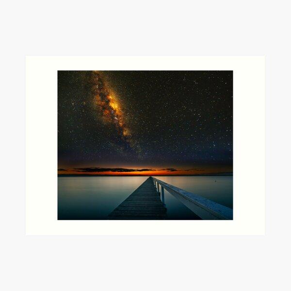 Milky Way over Long Jetty Art Print