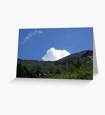 Colourful italian mountain Greeting Card