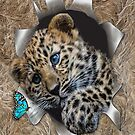 Baby Leopard Popping out by NadineMay
