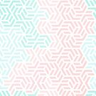 Pastel Deco Hexagon Pattern - Aqua and Pink #pastelvibes #pattern #deco by Dominiquevari