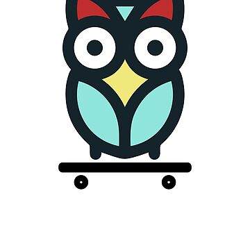 Skateboarding Owl by TomGiantDesigns