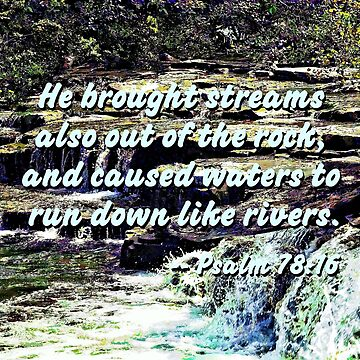 Psalm 78:16 - He brought streams ... by SudaP0408