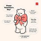 Hire a Polar Bear on Valentine's Day by Panda And Polar Bear
