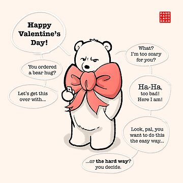 Hire a Polar Bear on Valentine's Day by PandaNPolarBear