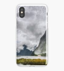 Heads in the Clouds Panorama at Milford Sound iPhone Case