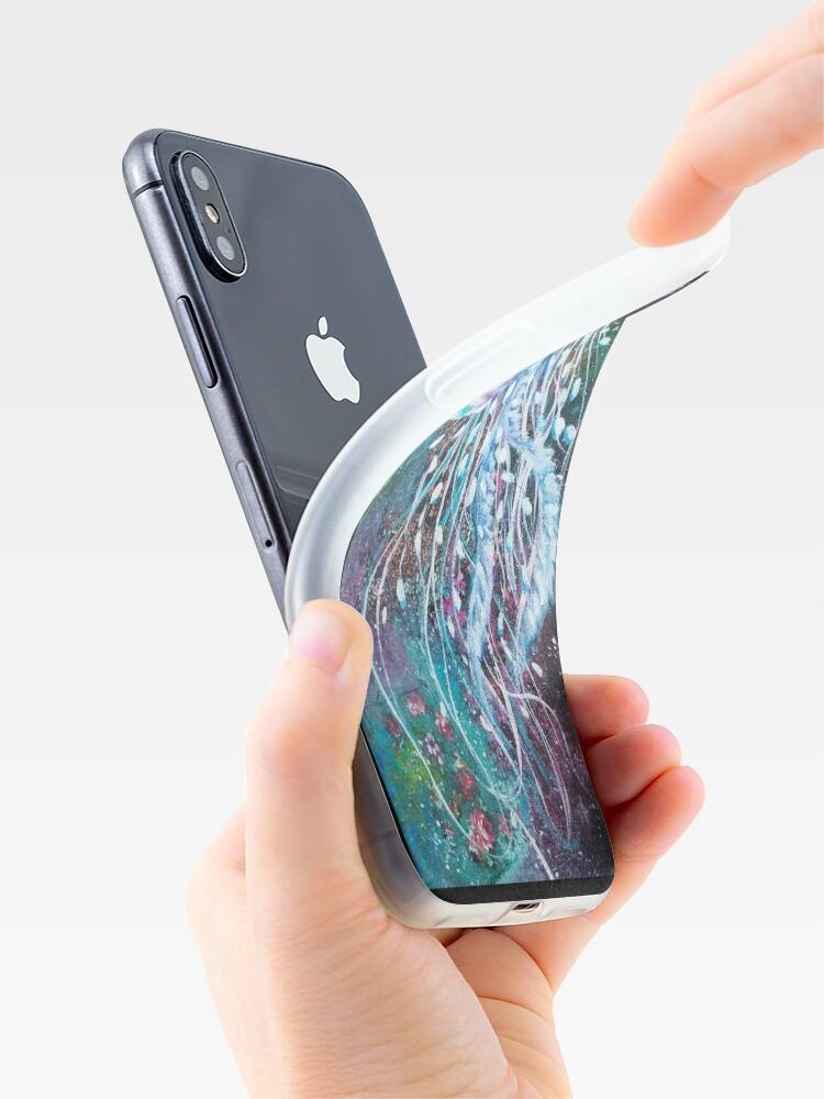 Alternative Ansicht von Raum-Blumenquallen iPhone-Hülle & Cover