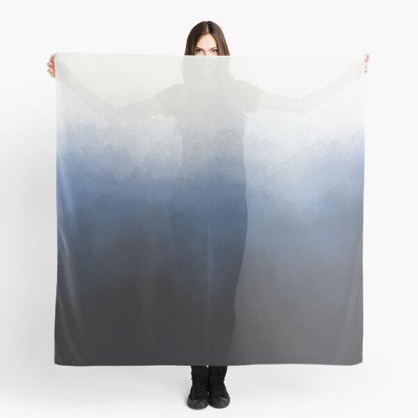 Blue spray ombre Scarf