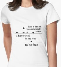 Bird on a wire Women's Fitted T-Shirt