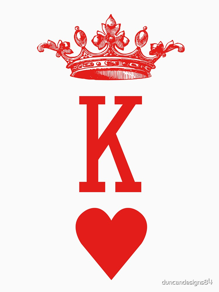 """""""King of Hearts"""" Playing Cards Design for Poker Players! by duncandesigns84"""