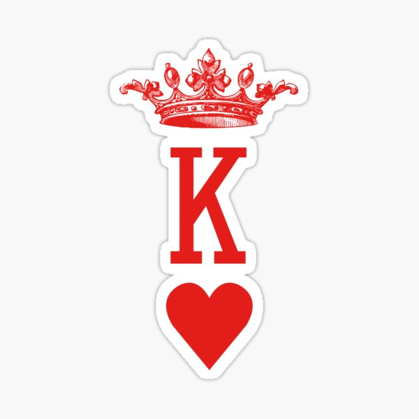 """""""King of Hearts"""" Playing Cards Design for Poker Players! Sticker"""