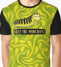 Obey The Munchies - Caterpillar Graphic T-Shirt