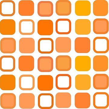 Retro Art Orange Squares by biglnet
