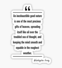 Washington Irving famous quote about nature Sticker