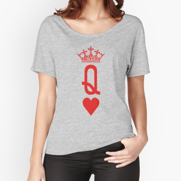 'Queen of Hearts' Playing Cards Design for Poker Players  Relaxed Fit T-Shirt