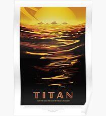 Titan - Exoplanet Reisebüro, JPL Travel Poster, Visionen der Zukunft, NASA, Planeten Poster