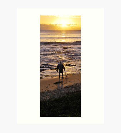 Beach Comber Art Print